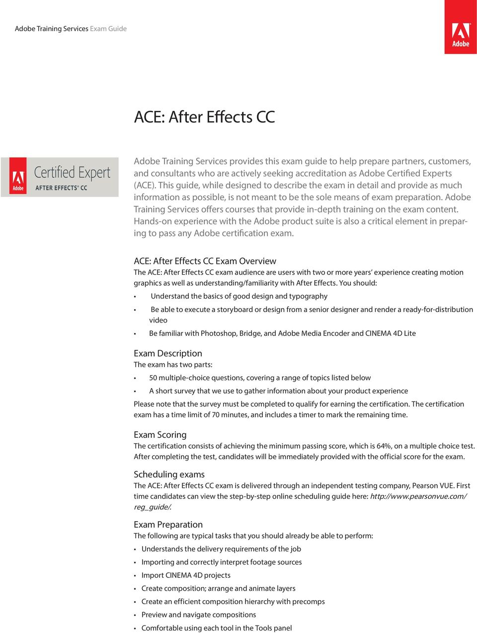 ACE: After Effects CC - PDF