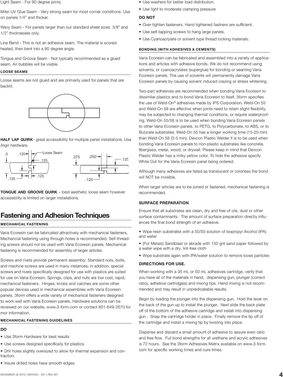 varia ecoresin fabrication manual guidelines for working with and