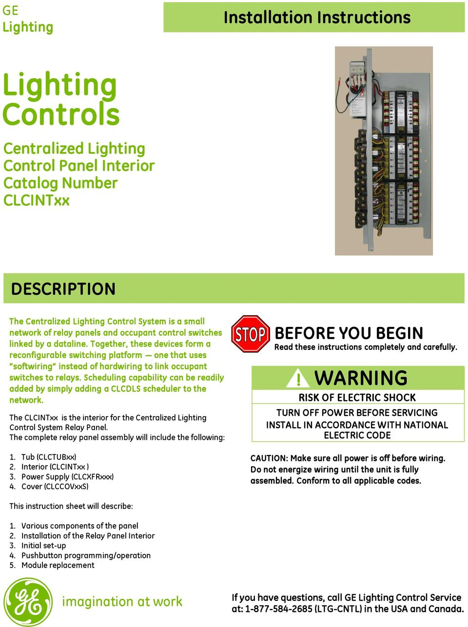Lighting Controls Warning Risk Of Electric Shock Installation Like To Replace The Onoff Switched Control With Relays Transcription