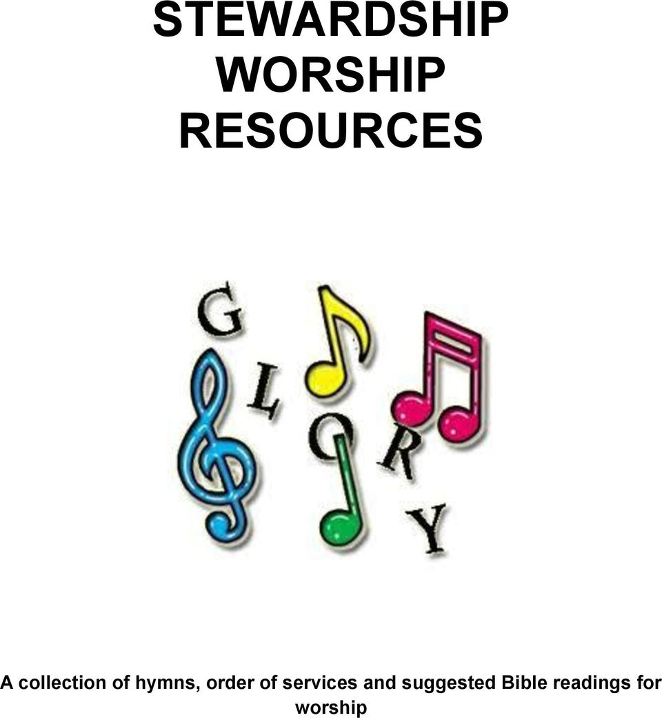 STEWARDSHIP WORSHIP RESOURCES - PDF