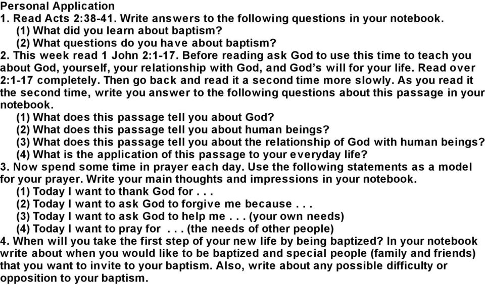 Then go back and read it a second time more slowly. As you read it the second time, write you answer to the following questions about this passage in your notebook.