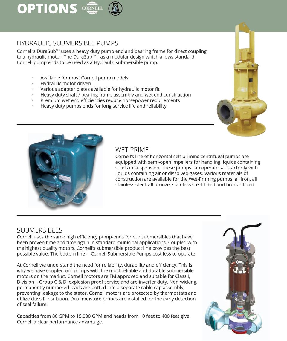 Cornell Pump Company Water Transfer Hydraulic Fracturing Efficient Pumps Flygt Submersible Liberty Logo Godwin Diagram Available For Most Models Motor Driven Various Adapter Plates 7 Fracking