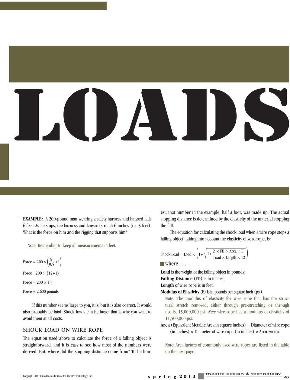 Understanding Shock Loads By Delbert L  Hall Published in