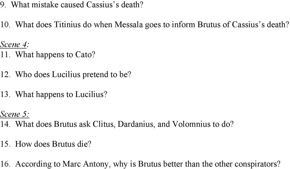 Julius Caesar Act I Reading And Study Guide Pdf. What Happens To Cato 12 Who Does Lucilius Pretend Be 13. Worksheet. Julius Caesar Worksheet Act 4 At Mspartners.co