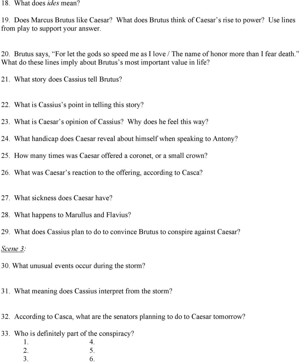 Julius Caesar Act I Reading And Study Guide Pdf
