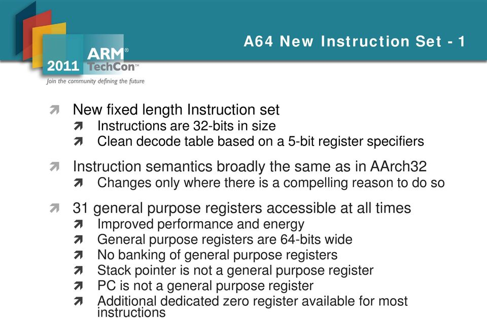 ARMv8 Technology Preview  By Richard Grisenthwaite Lead