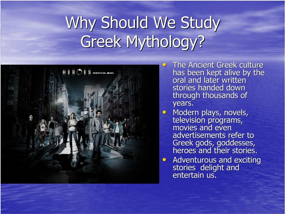 Introduction to Greek Mythology  Sixth Grade Language Arts Mrs