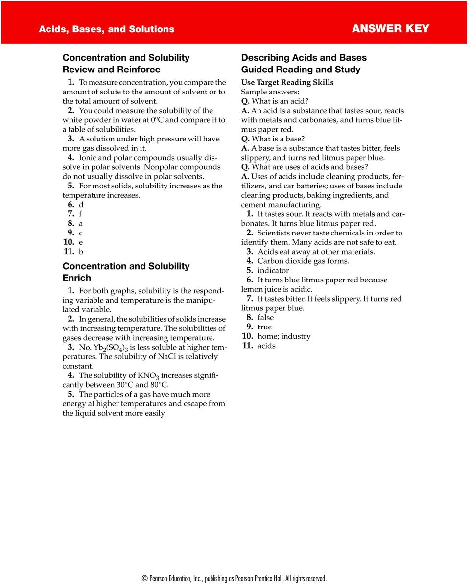 Answer Key Acids Bases And Solutions Chapter Project Worksheet 1