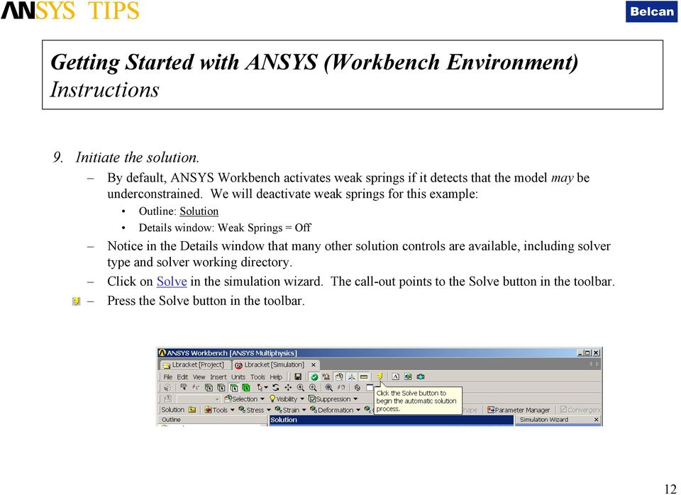 Getting Started with ANSYS ANSYS Workbench Environment - PDF