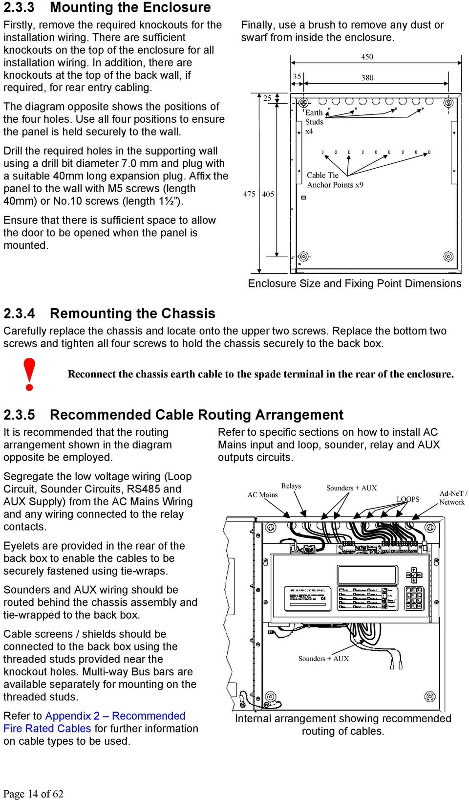 Mx 4100 4200 4400 Pdf Wiring Loop Circuit Use All Four Positions To Ensure The Panel Is Held Securely Wall Finally