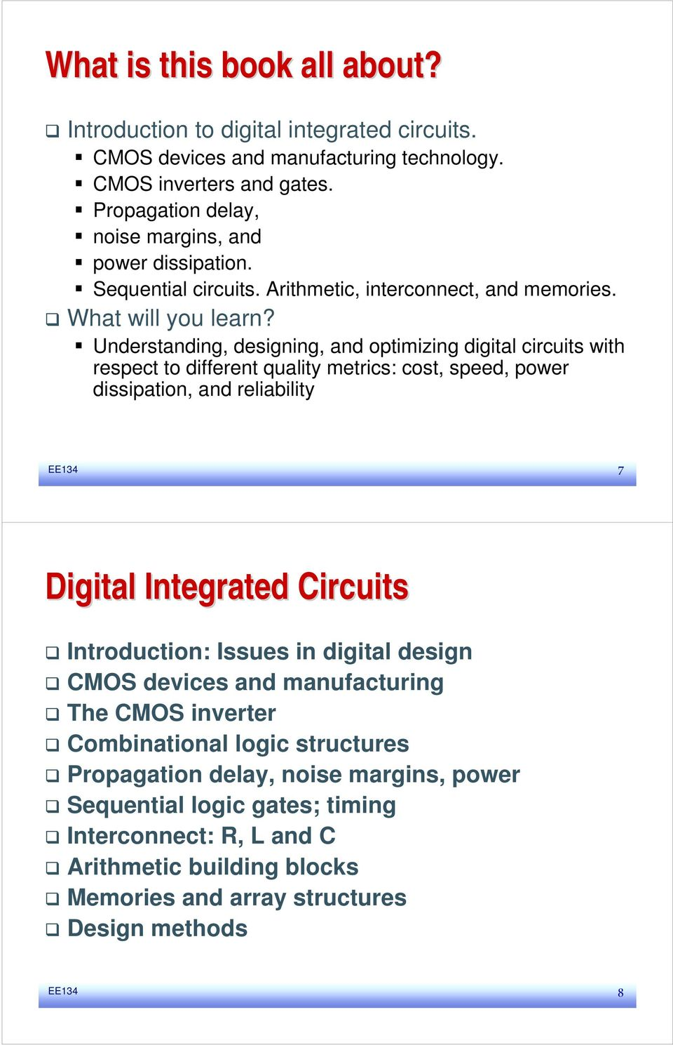 Digital Integrated Circuit Ic Layout And Design Pdf Understanding Designing Optimizing Circuits With Respect To Different Quality Metrics