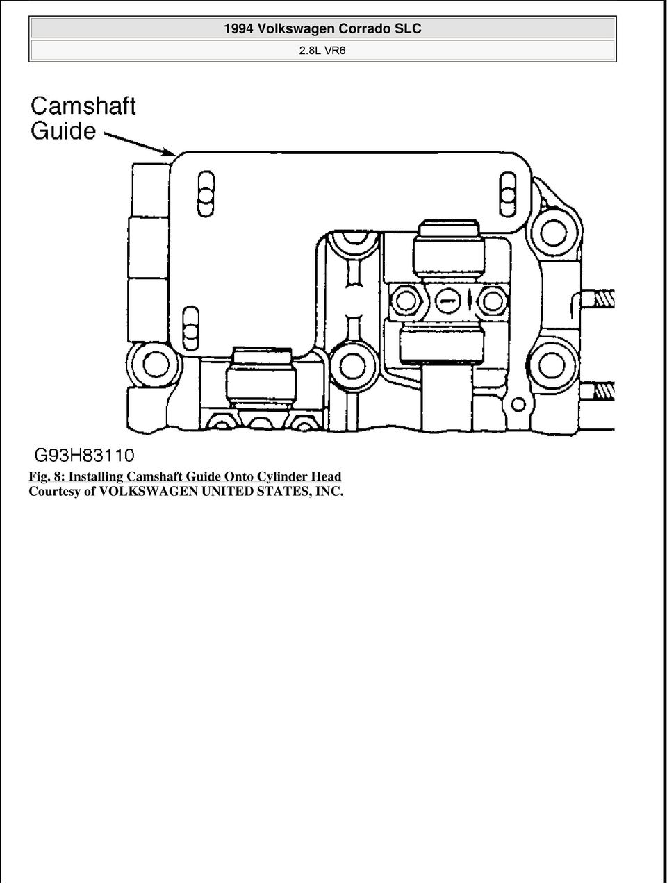 1994 Volkswagen Corrado Slc Pdf Vr6 Engine Timing Diagram 9 Exploded View Of Chain Related Components Installation