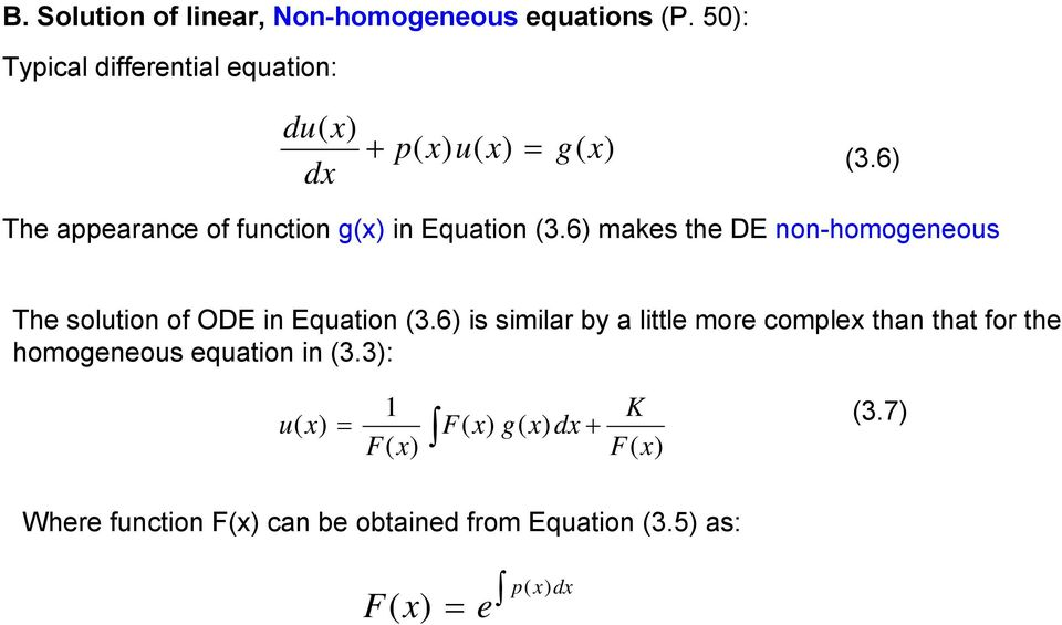 Application of First Order Differential Equations in