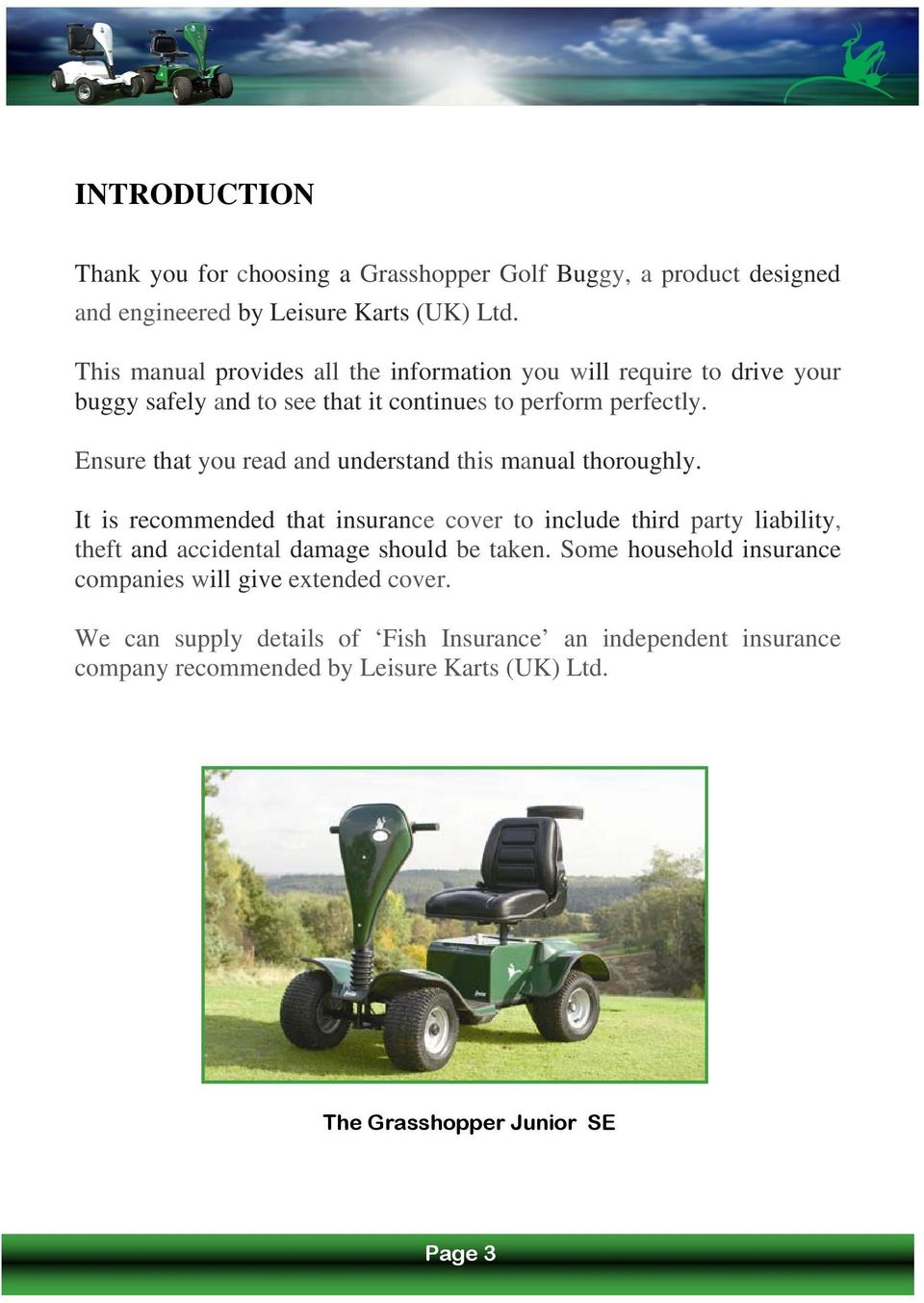 The Grasshopper Golf Buggy Owners Manual Junior Se Pdf Mower Wiring Diagram Ensure That You Read And Understand This Thoroughly