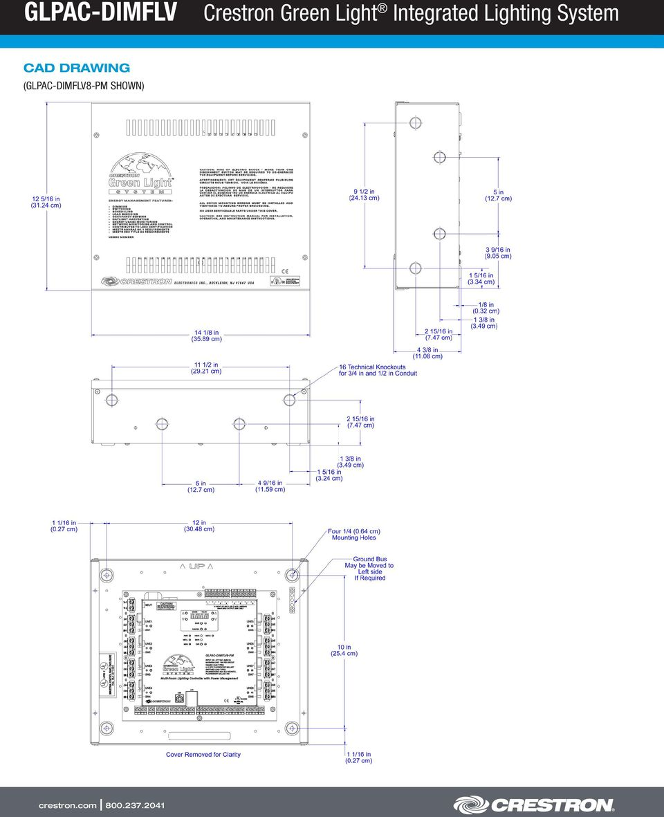 Glpac Dimflv Crestron Green Light Integrated Lighting System Pdf Cls C6 Wiring Diagram 5 Application Electronics Inc 15 Volvo Drive Rockleigh Nj Tel Fax All Brand Names Product And Trademarks Are The Property Of