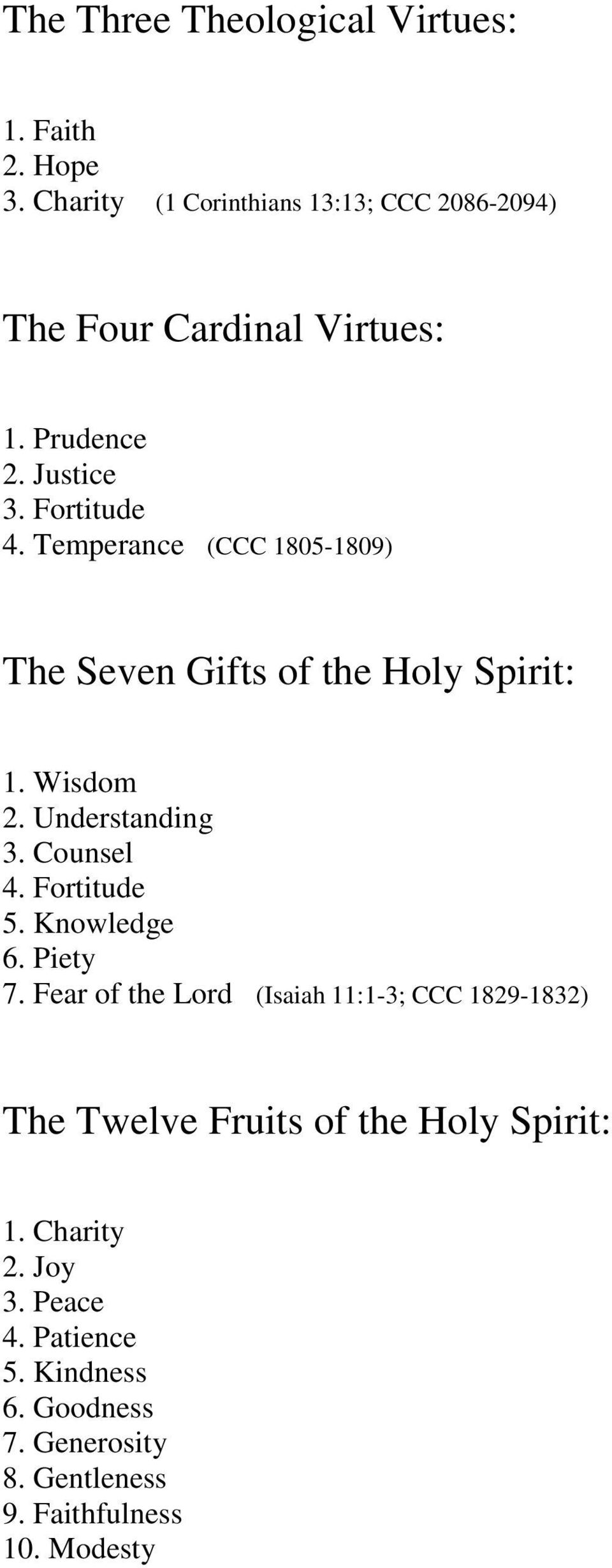 HELPS FROM THE CATECHISM OF THE CATHOLIC CHURCH - PDF