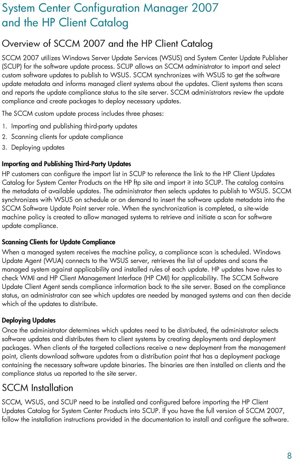 HP Client Catalog for Microsoft System Center Products - PDF