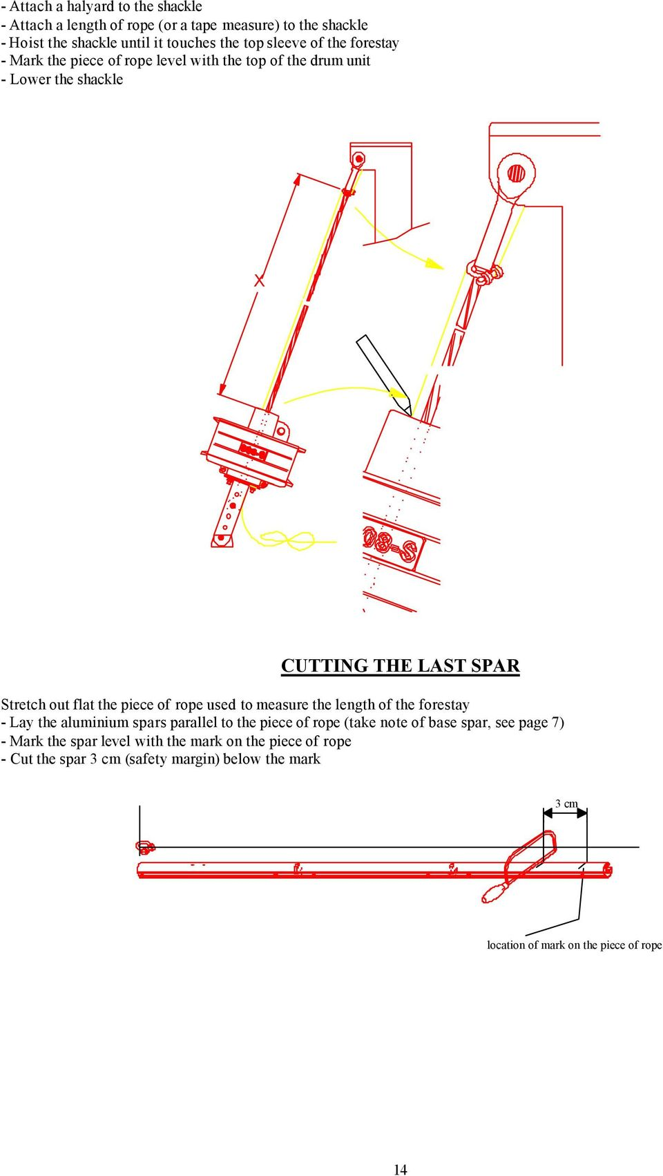 Plastimo Jib Reefing Systems S Series 406 608 810 Pdf Eastwood Guitar Wiring Diagram Of Rope Used To Measure The Length Forestay Lay Aluminium Spars Parallel