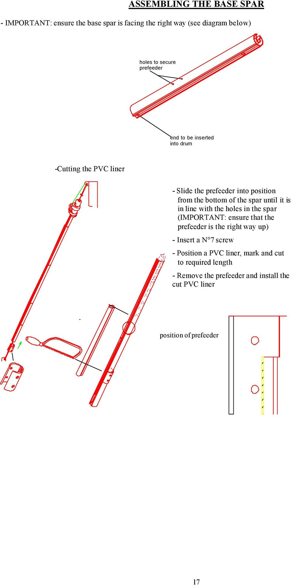 Plastimo Jib Reefing Systems S Series 406 608 810 Pdf Eastwood Guitar Wiring Diagram Until It Is In Line With The Holes Spar Important Ensure That