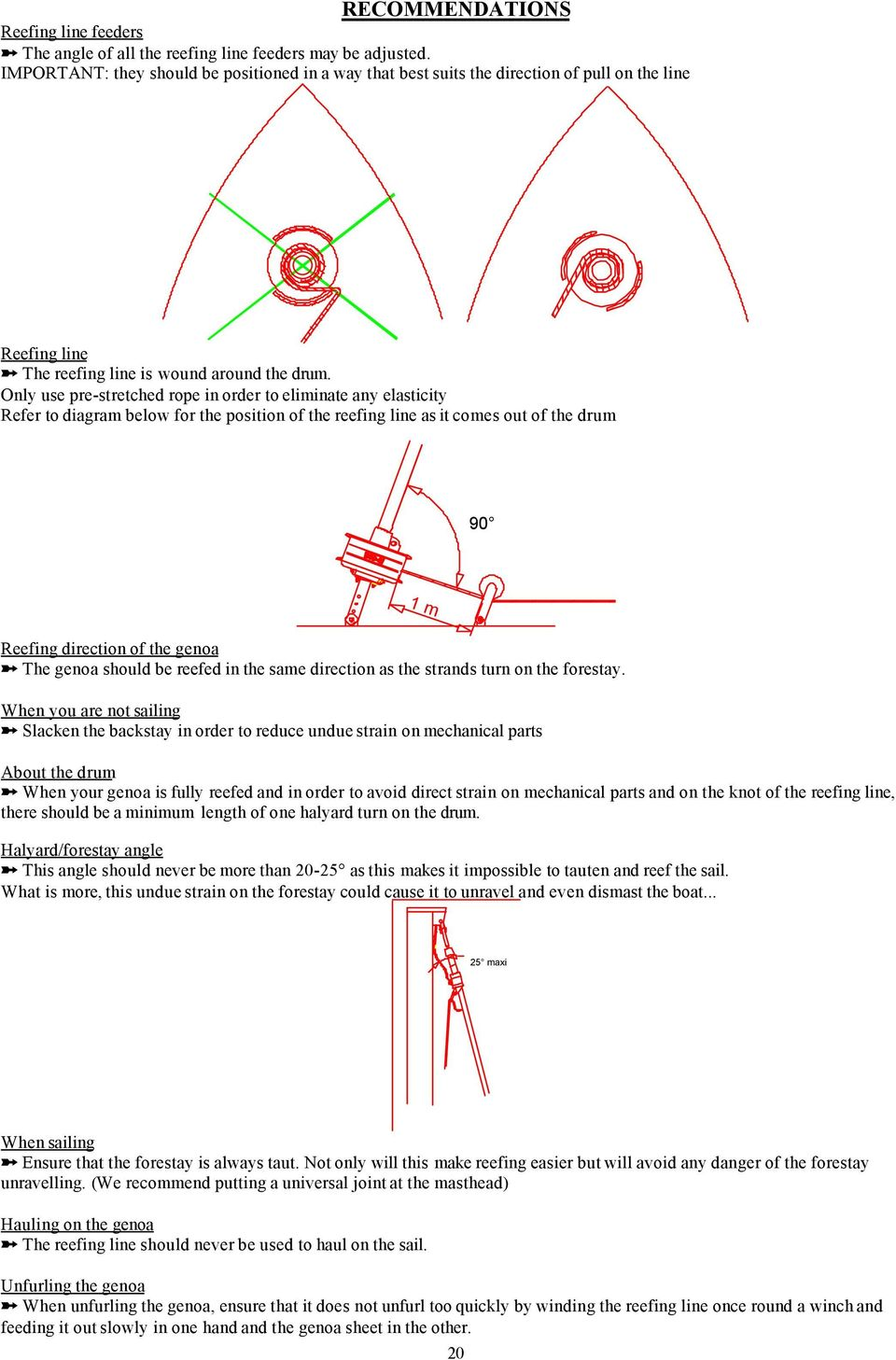 Plastimo Jib Reefing Systems S Series 406 608 810 Pdf Eastwood Guitar Wiring Diagram Only Use Pre Stretched Rope In Order To Eliminate Any Elasticity Refer Below