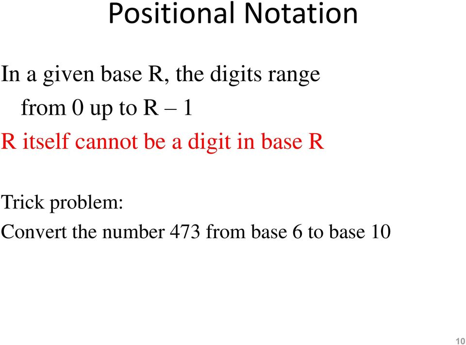 cannot be a digit in base R Trick problem: