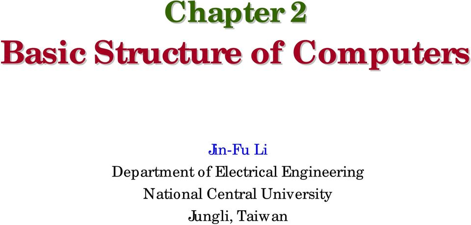 of Electrical Engineering