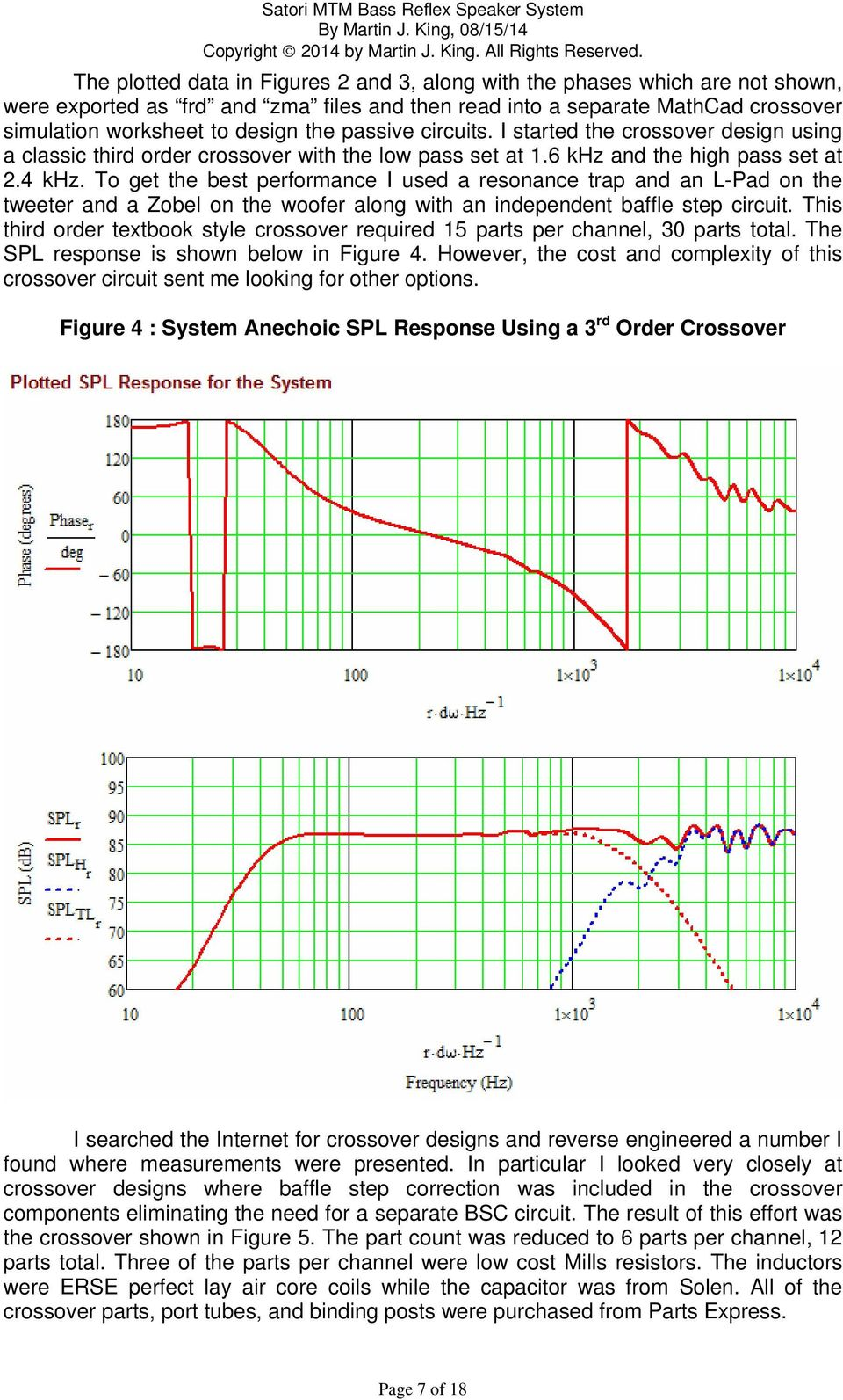Satori Mtm Bass Reflex Speaker System Pdf Design Of Crossover Using Online Calculator Schematic Diagram To Get The Best Performance I Used A Resonance Trap And An L Pad On 9 Figure 5 Final