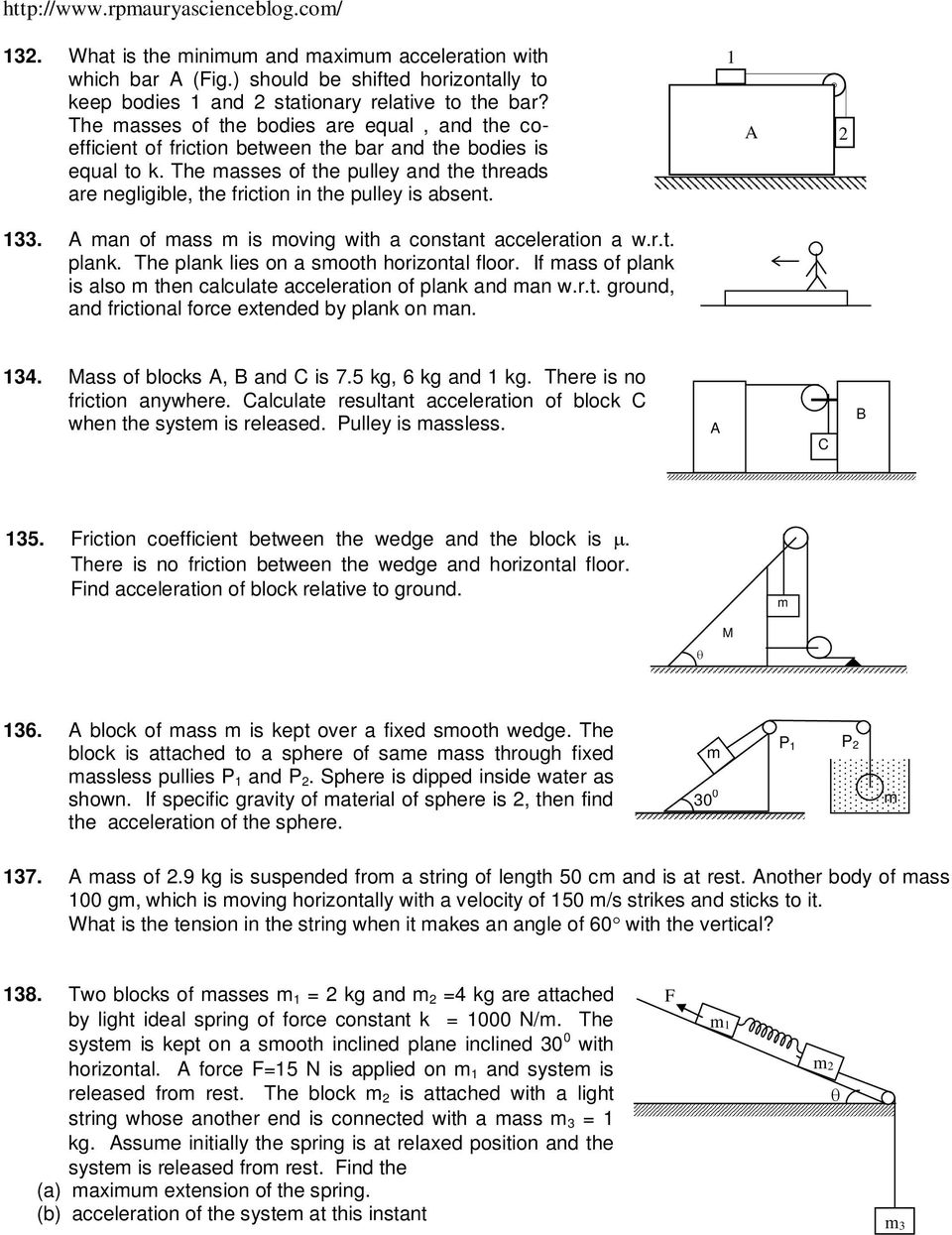 LAWS OF MOTION PROBLEM AND THEIR SOLUTION - PDF