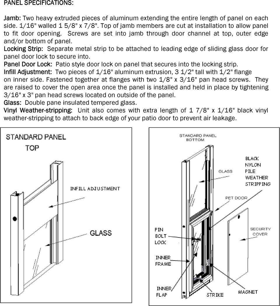 Hale Pet Door Installation Instructions Hale Standard Panel Model Pdf