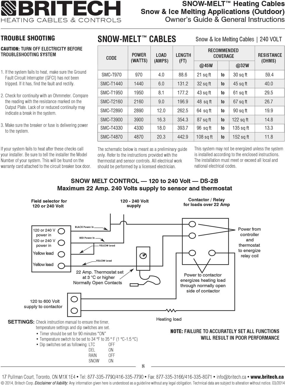 Snow Melt Heating Cables Ice Melting Applications Outdoor Pdf Led 120 240 Wiring Diagram Lack Of Or Reduced Continuity May Indicate A Break In The System 3 Make
