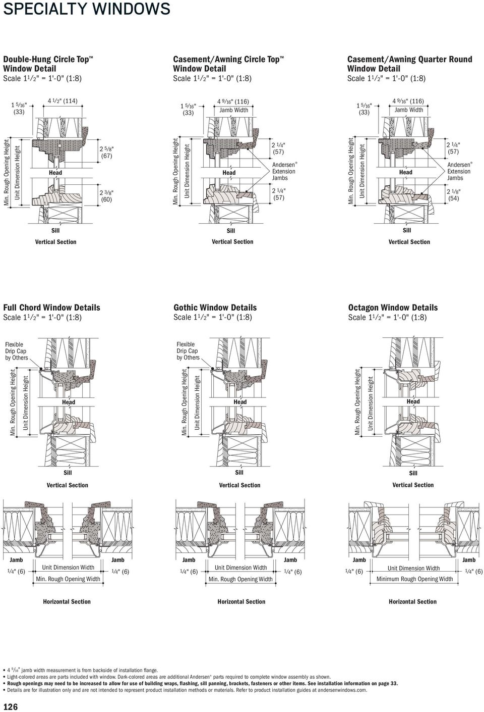 SECTION REFERENCE  Custom Arch Windows Custom Shapes and Sizes - PDF