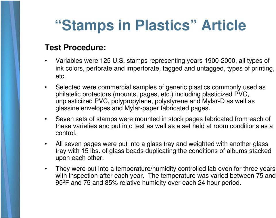 Stamps and Plastics the Good and the Bad - PDF