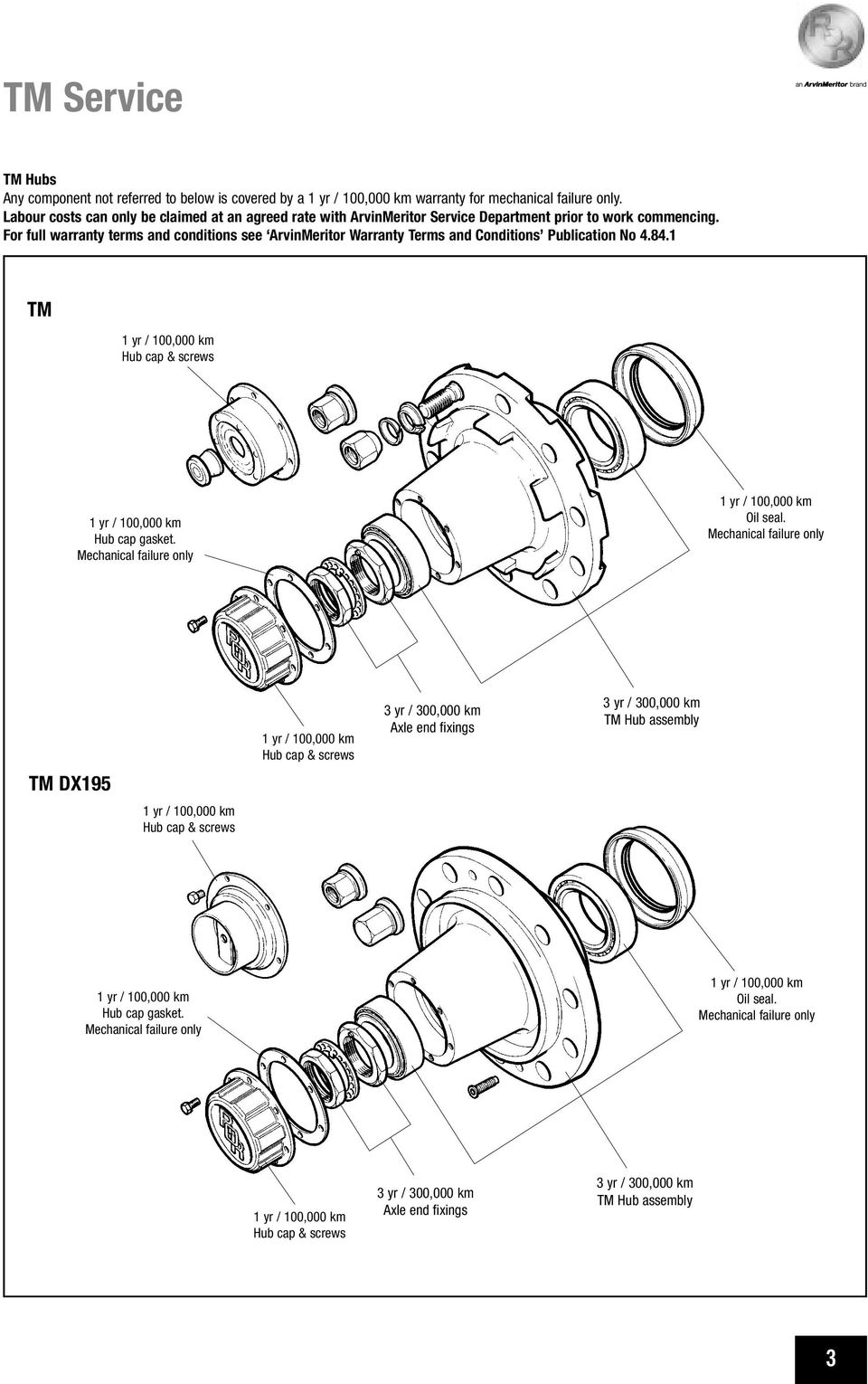 ror axle brake service manual tm series axles including disc and AR Bolt Diagram for full warranty terms and conditions see arvinmeritor warranty terms and conditions publication no 4 84