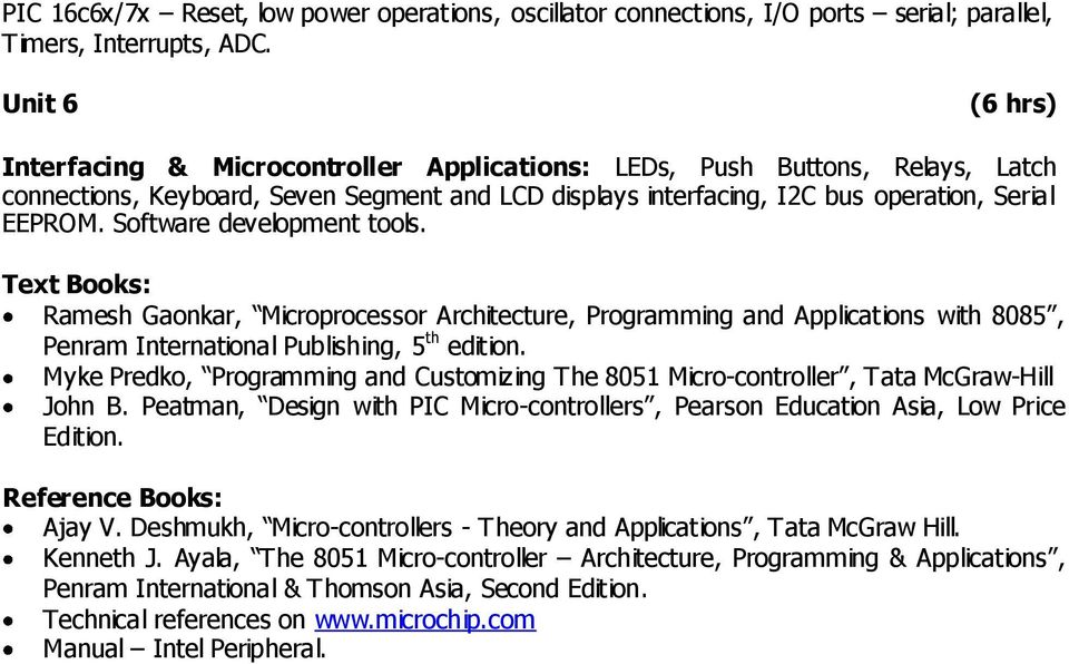 Microcontroller Theory And Applications Ajay V Deshmukh Tata Mcgraw Hill -