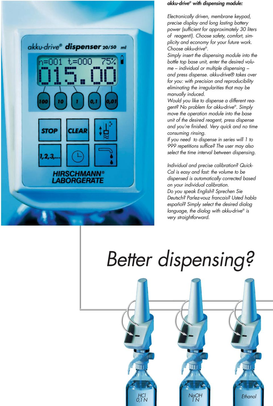 akku-drive HiClass electronic control for titration and