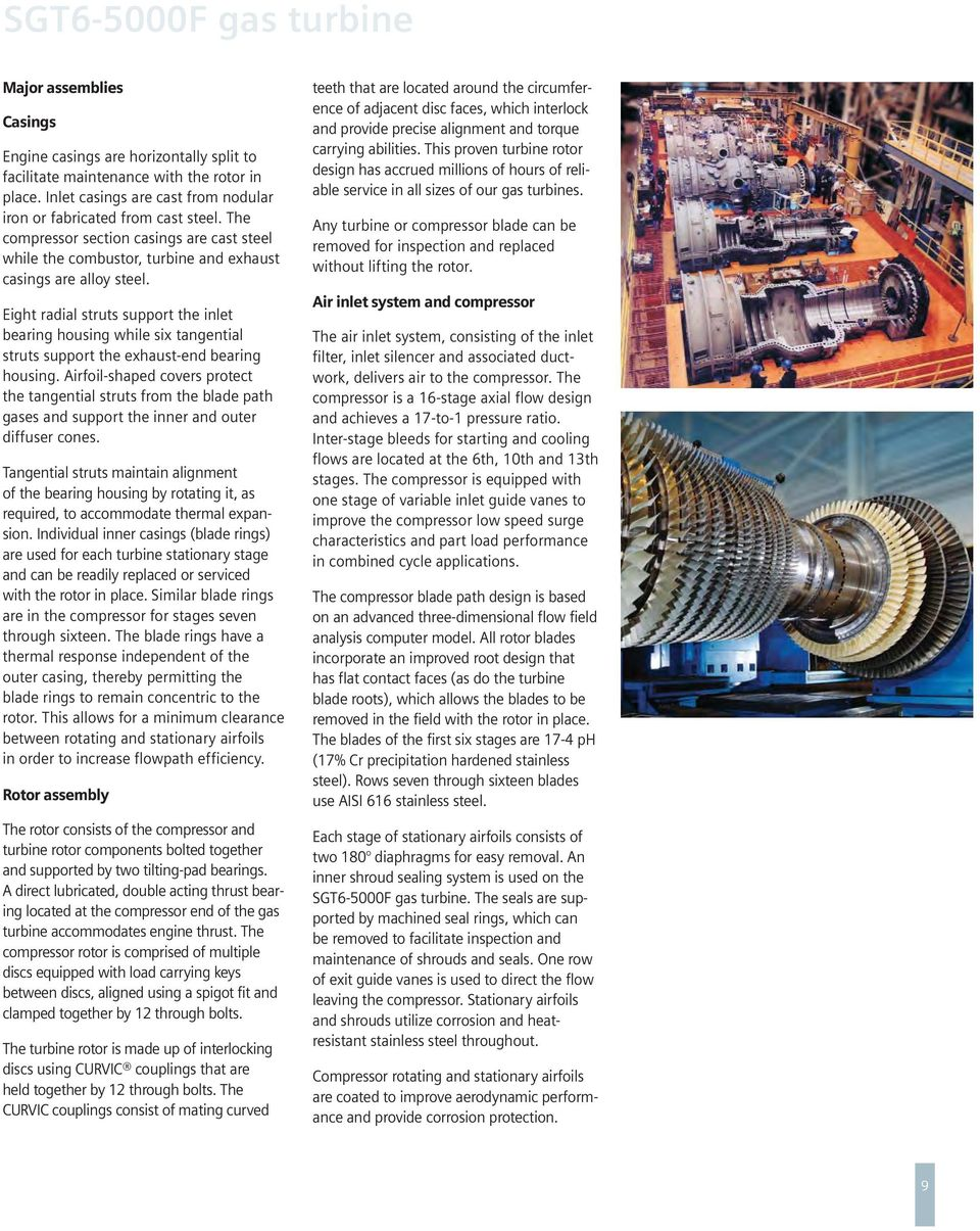 Siemens Gas Turbine SGT6-5000F Application Overview - PDF