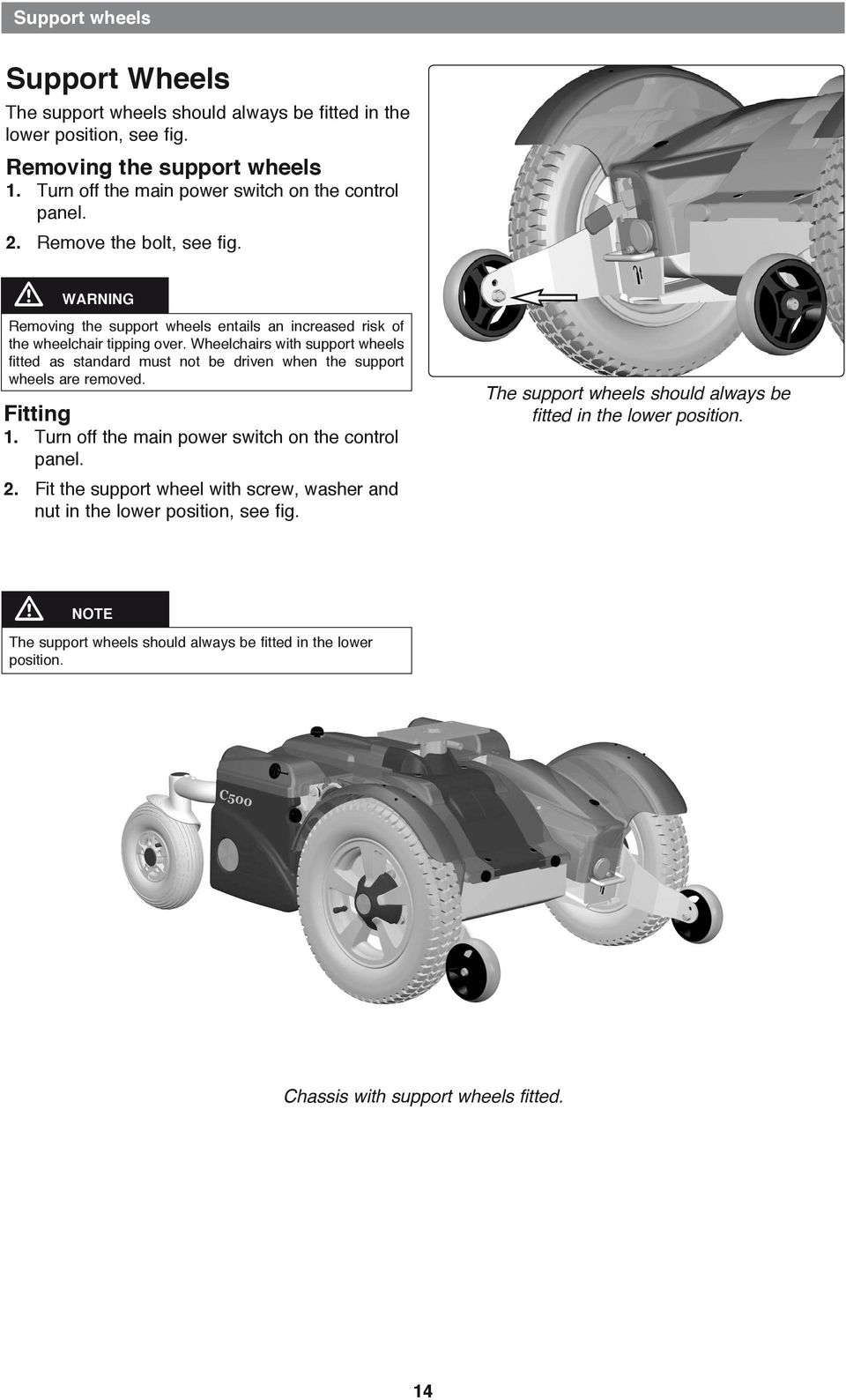 Service Manual Permobil C500 Power Wheelchair Pdf Electrical Wiring Diagrams Prmobil C400 Wheelchairs With Support Wheels Fitted As Standard Must Not Be Driven When The Are