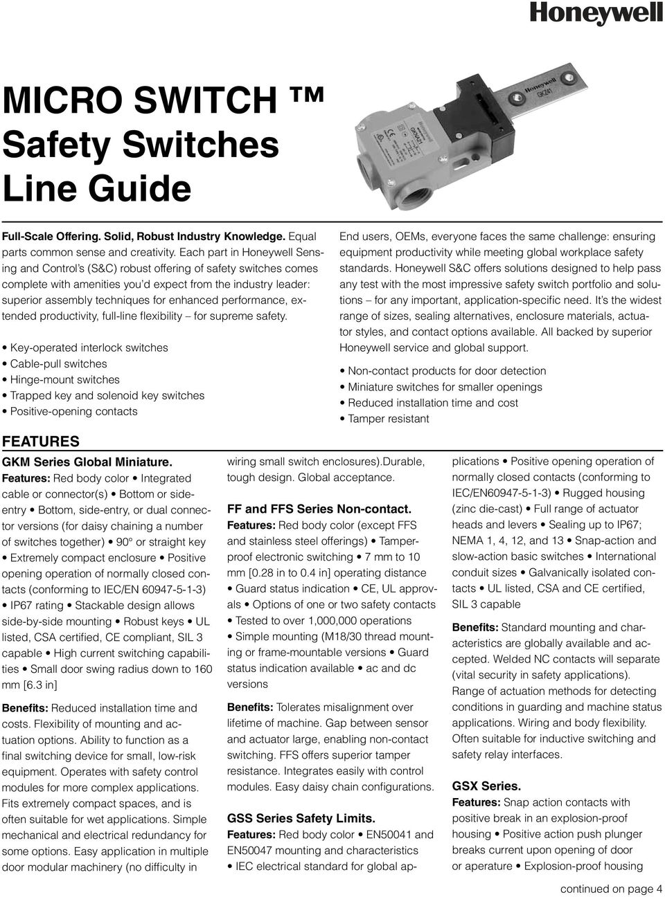 Micro Switch Safety Switches Line Guide Pdf Operation Steel Wire Hinge Lever Type 110