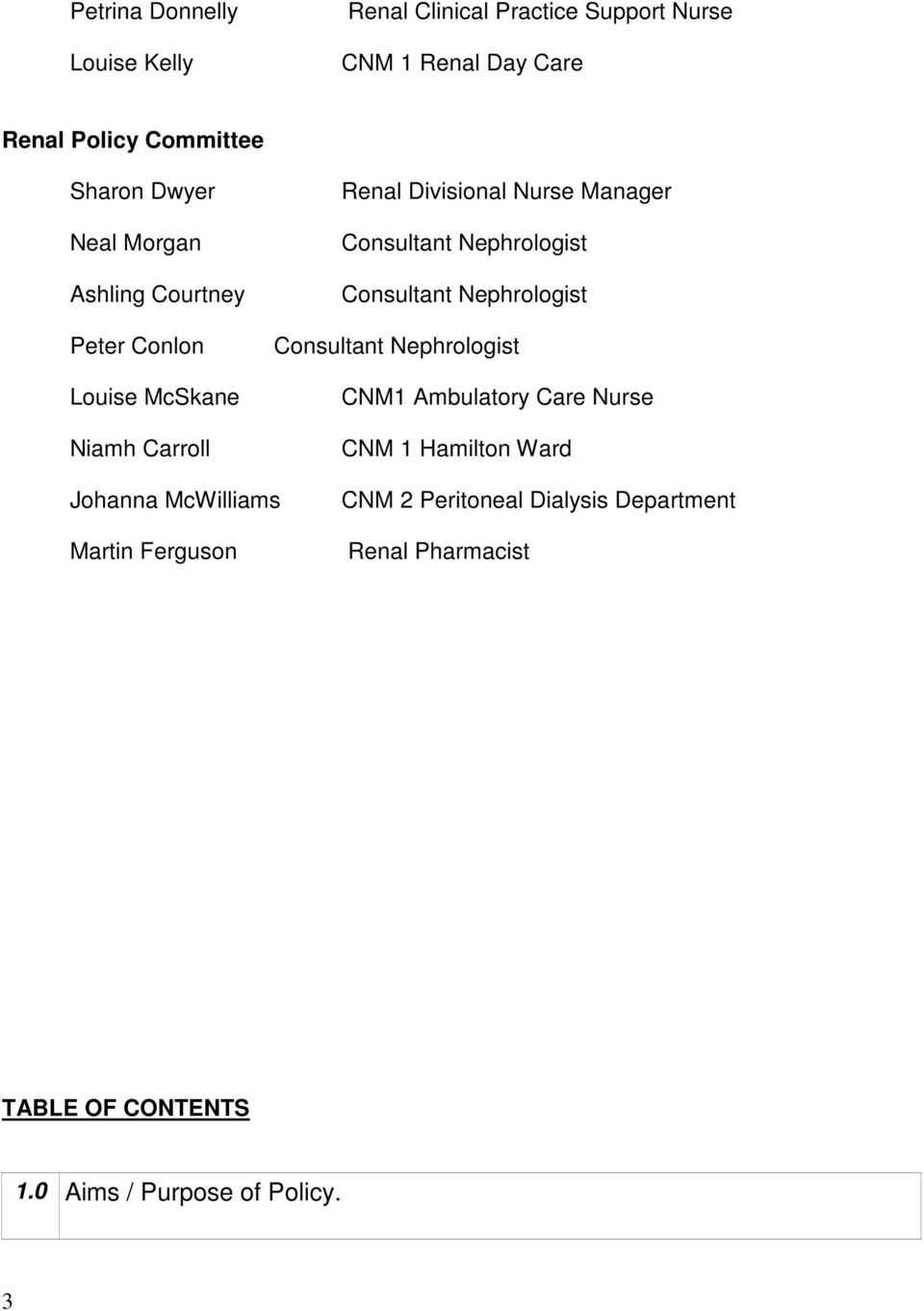 BEAUMONT HOSPITAL DEPARTMENT OF NEPHROLOGY RENAL BIOPSY - PDF