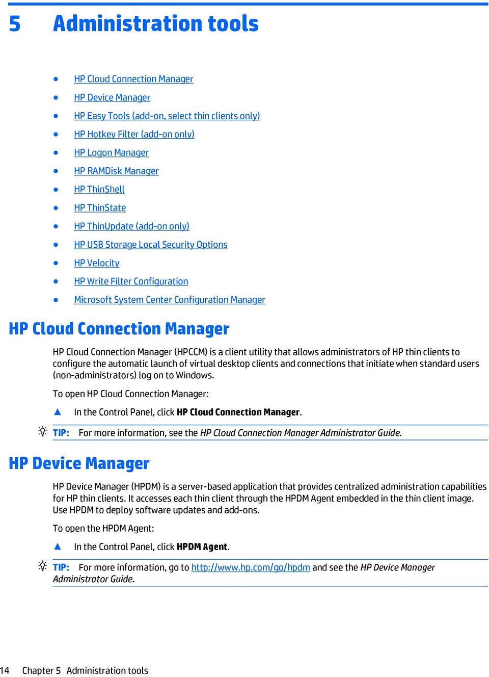 Windows Embedded Standard 7 for HP Thin Clients  Administrator Guide
