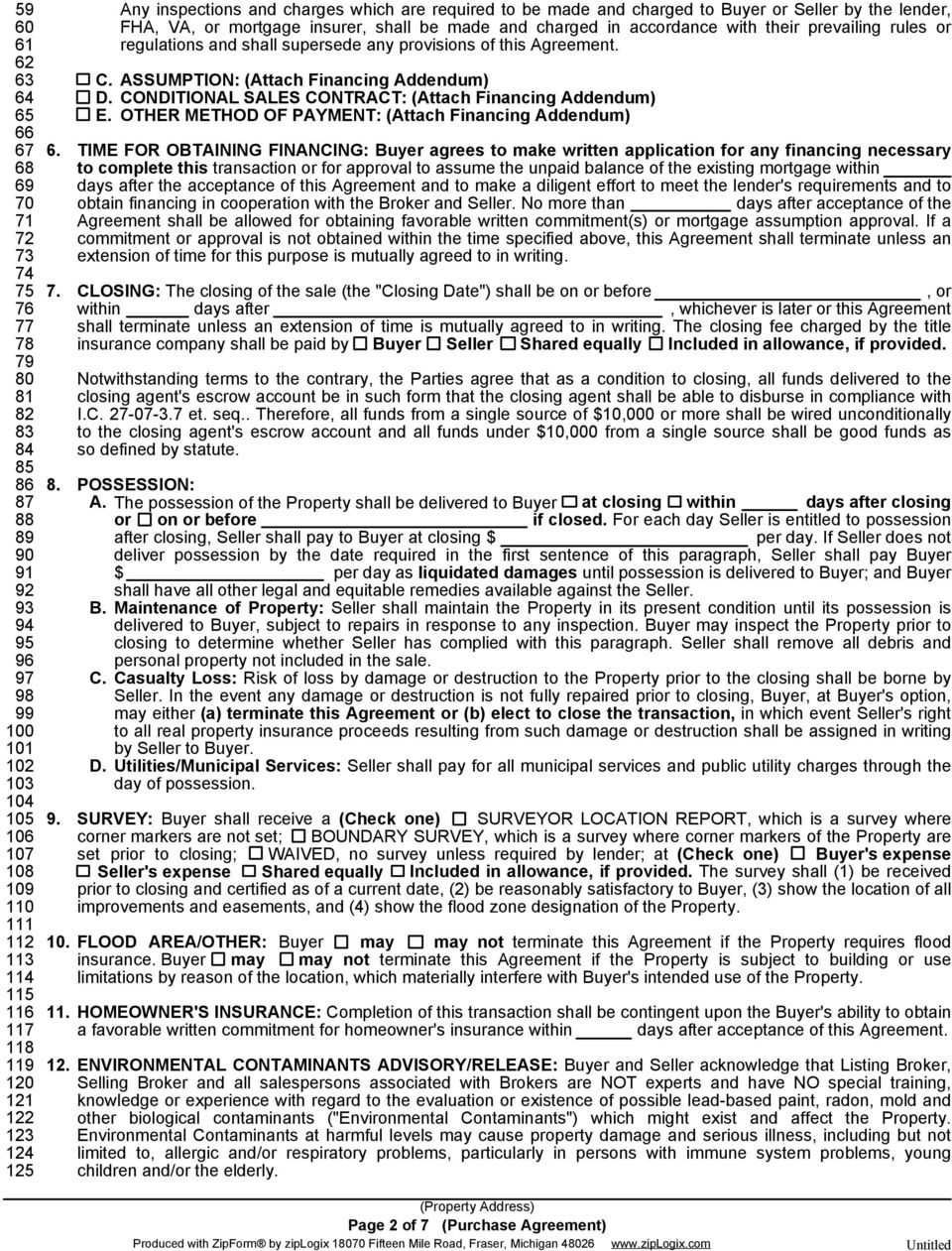 PURCHASE AGREEMENT IMPROVED PROPERTY PDF