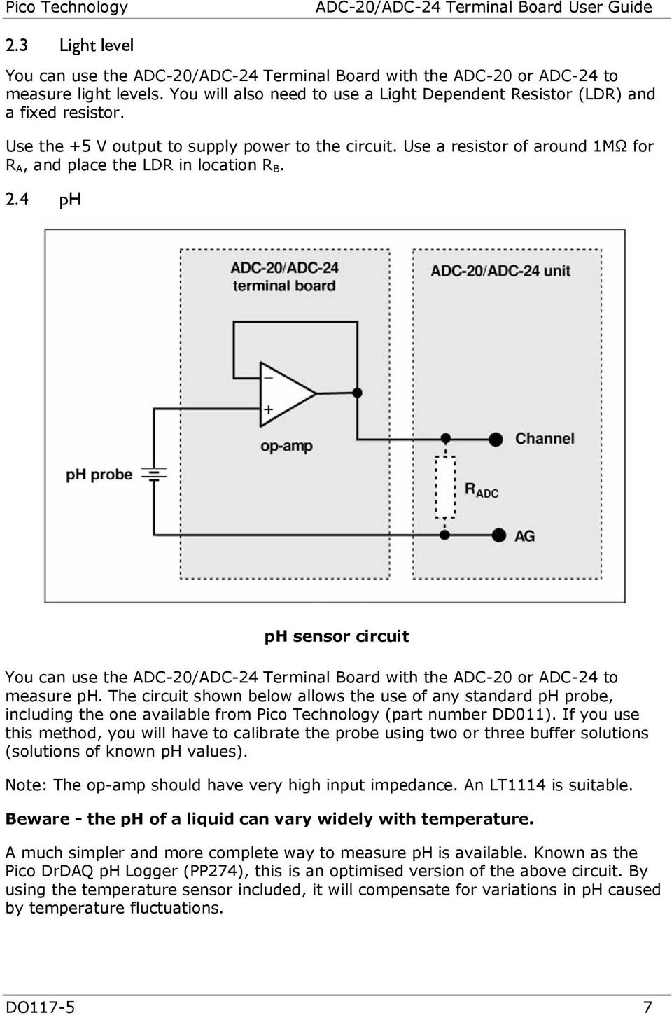 Pcbofdigitaltemperaturesensorcircuitusinglm335z Adc 20 24 Terminal Board User Guide Do Pdf Use A Resistor Of Around 1m For R And Place The Ldr In Location