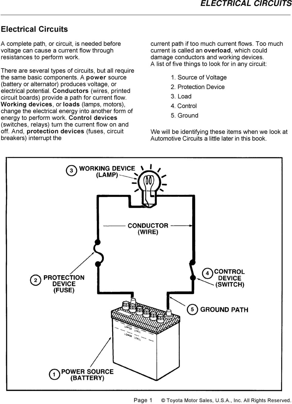Electrical Circuits Pdf House Wiring Voltage Formula Conductors Wires Printed Circuit Boards Provide A Path For Current Flow Working