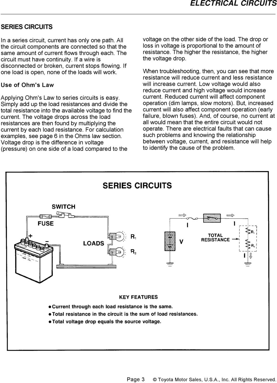 Electrical Circuits Pdf Simple Electric Circuit Made Up Of A Voltage Source And Resistor Simply Add The Load Resistances Divide Total Resistance Into Available To
