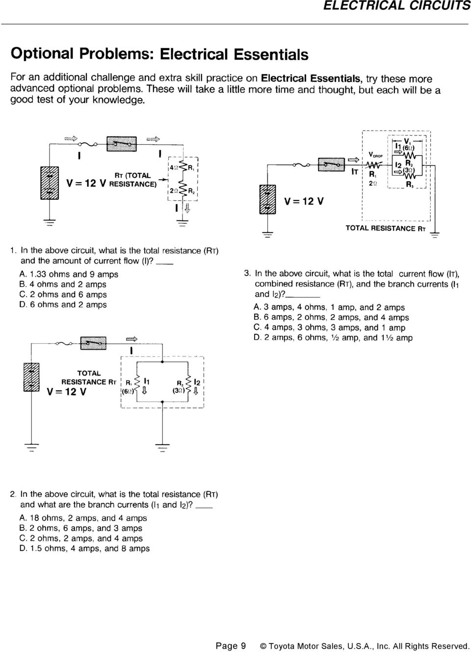 Electrical Circuits Pdf Resistor Formula Above We Can Calculate The Total Circuit Resistance Draw And Label Parts Of A Series Parallel 2 Explain Characteristics Voltage How It Differs Between