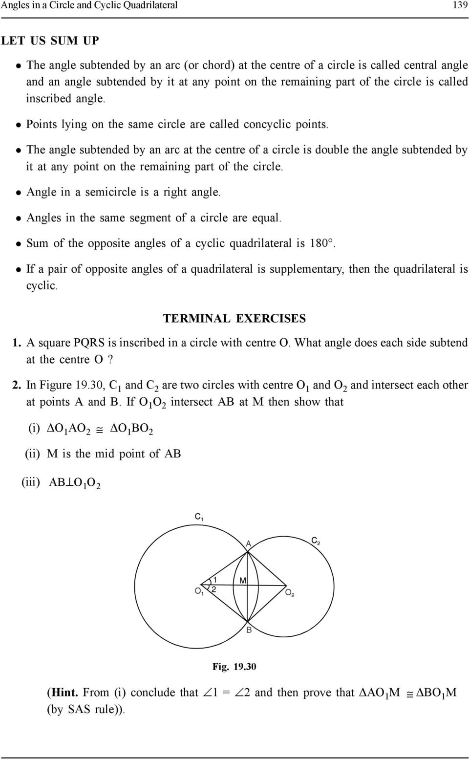 Angles In A Circle And Cyclic Quadrilateral Pdf