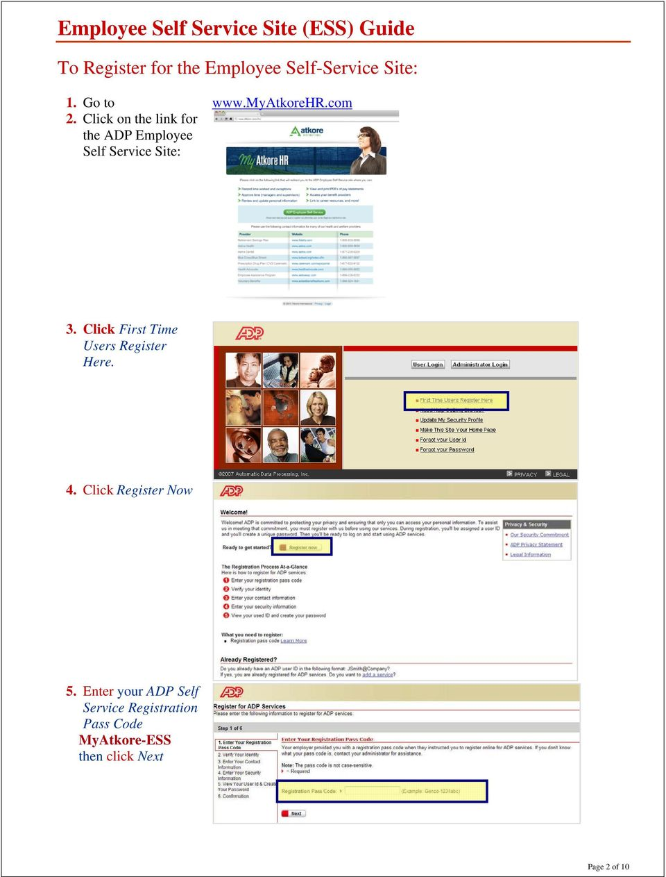 com 3 click first time users register here 4 click register now 5