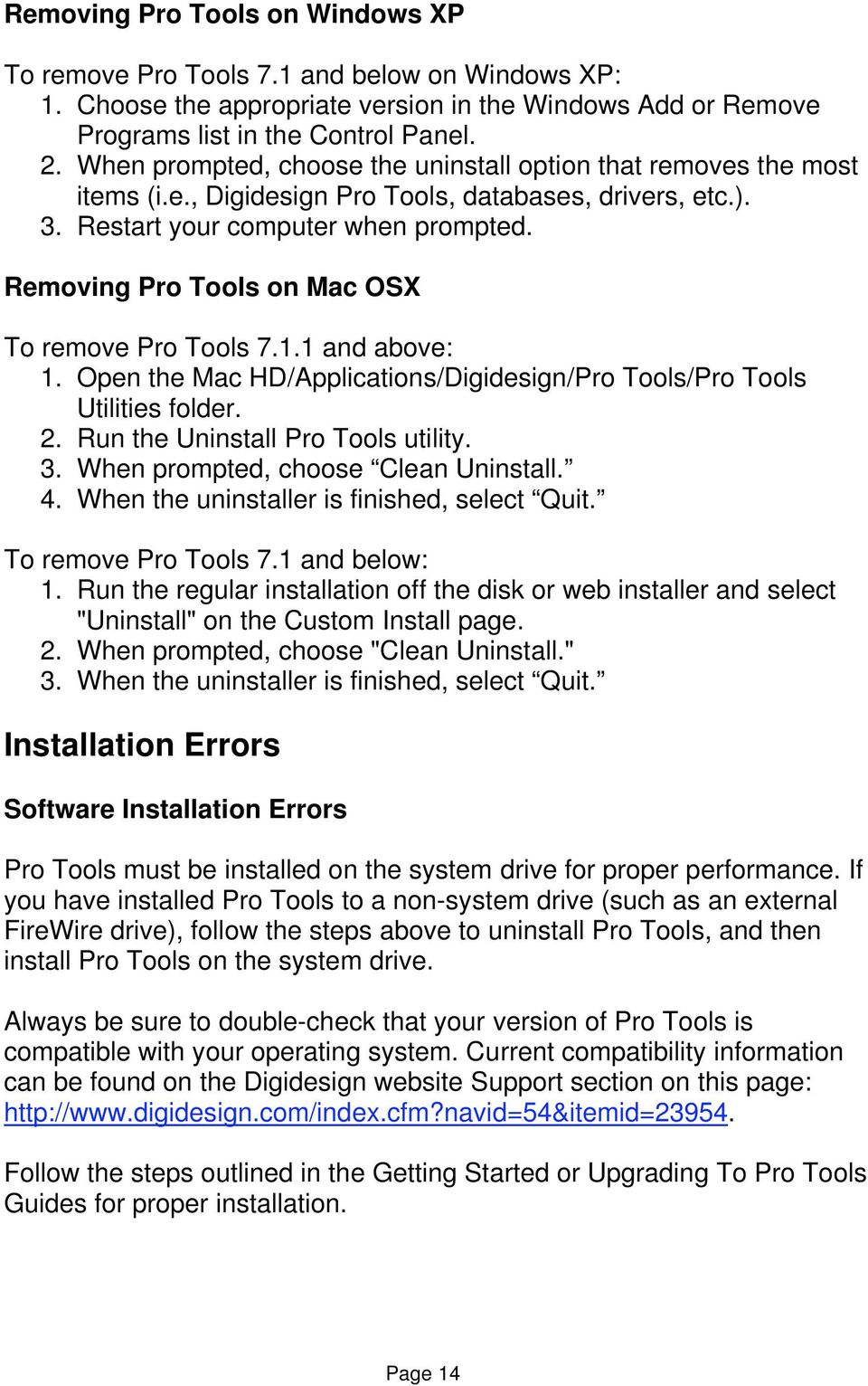 Digidesign Support FAQ  Pro Tools Troubleshooting Guide - PDF