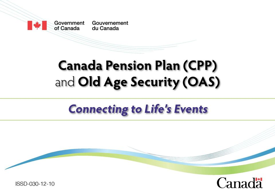 Canada Pension Plan Cpp And Old Age Security Oas Pdf