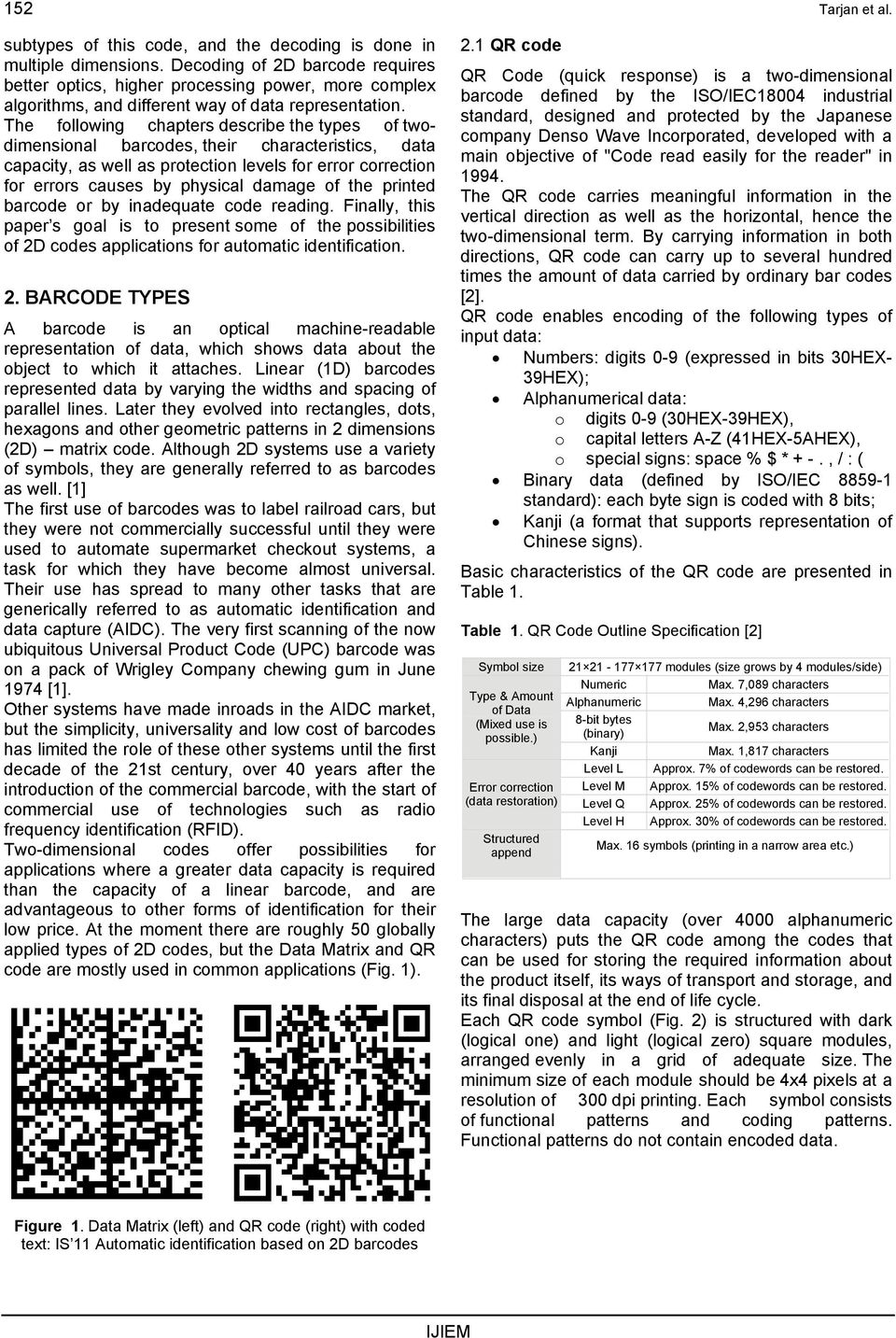 Automatic identification based on 2D barcodes - PDF